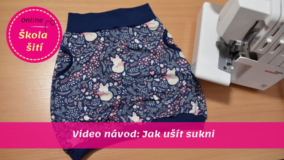 84d82c79b1  VIDEO NÁVOD  Ušij si sukni